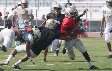 Football teams kick off the year with annual Brown and Gold scrimmage