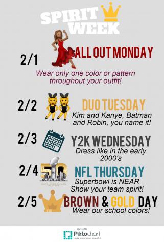 Spirit Week: February 2016