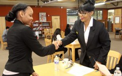 AVID, business skills students experience mock interviews