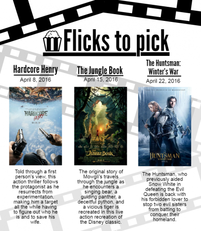 Flicks to pick for April 2016