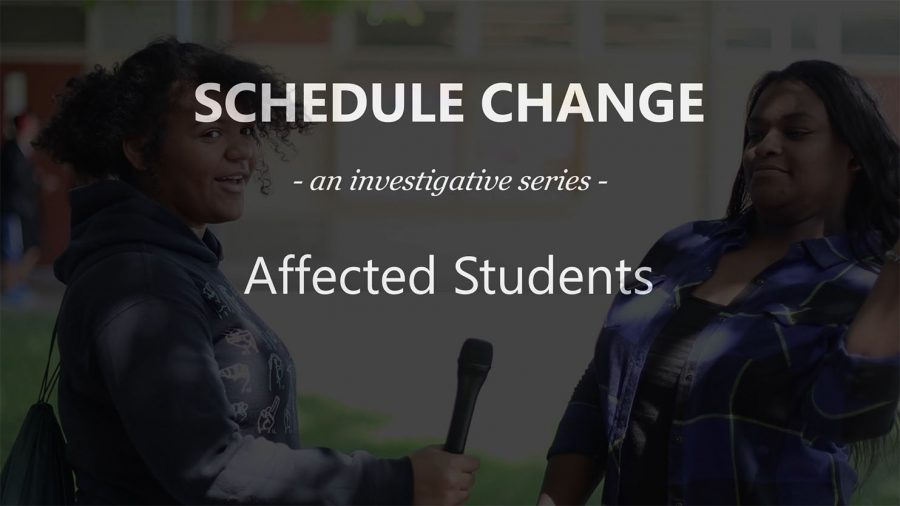 SCHEDULE CHANGE: Students Affected