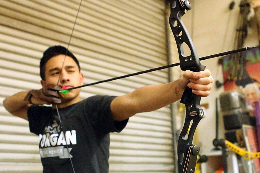 Senior Christian Morgan has been into archery and shooting at Jerry's Archery, the only proffesional shop in Stockton, since the sixth grade.