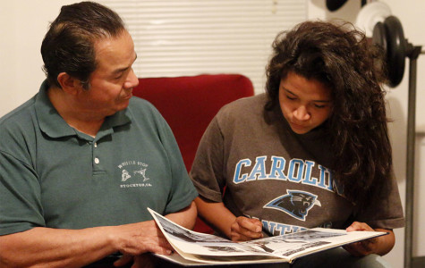 Senior Zariah Gonzales and her father, Manuel Gonzales, share a close bond. He keeps a watchful eye over her but still lets her experience her teenage years. Her father has supported her all throughout high school with football, wrestling, and also maintaining grades.