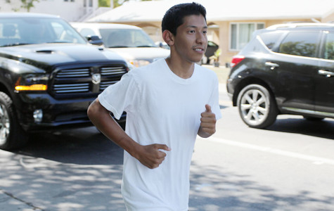 DAVID ALMANZA: Running, what he does best