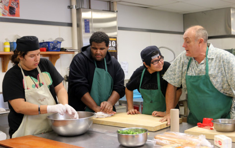 WEEKLY GALLERY: Students prepare meals in Campus Cafe