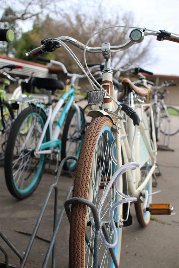 Photographer Maria Castillo captured a picture of a bicycle on campus, showing how students commute to school as well as the beauty of the bike.