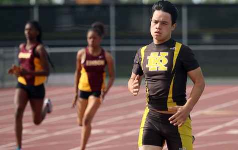 Men's track and field beats Edison in dual meet.