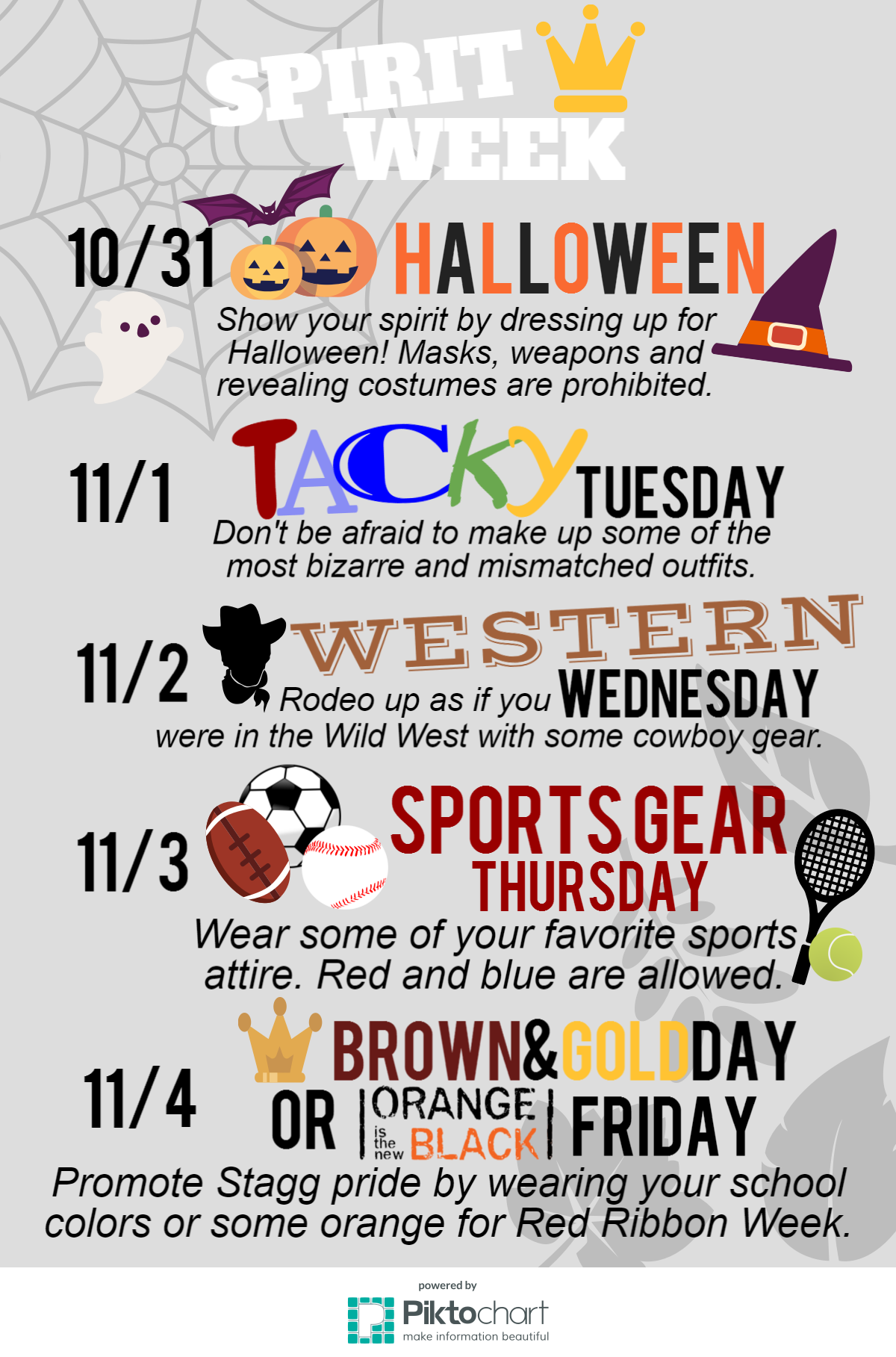 spirit week: november 2016 – stagg online