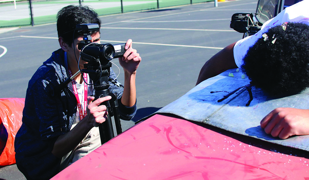 Stagg Line web editor Jefferson Leiva took charge as production leader capturing the event on video. The team of four had to remain on campus more than 30 straight hours to complete the job.