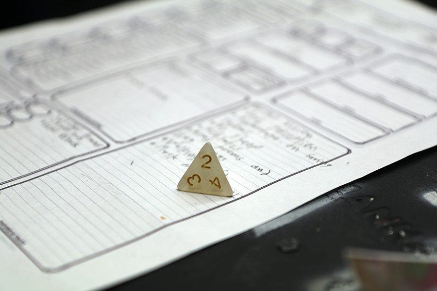 The Dungeons and Dragons club is a new club that commenced this school year which they practice and play in the theater every thursday during lunch.