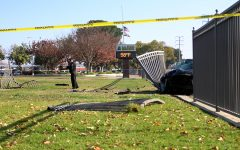 Stolen car crashes into west fence