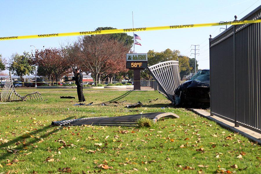 Stolen+car+crashes+into+west+fence