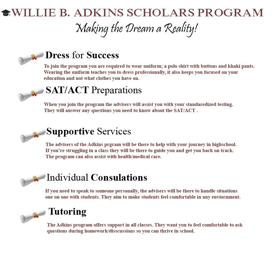 Adkins scholars program provides finical guidance