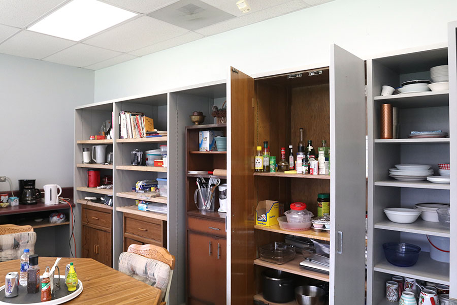 Berg+closets+are+contained+with+an+assortment+of+spices+and+culturry+used+in+her+dishes.+