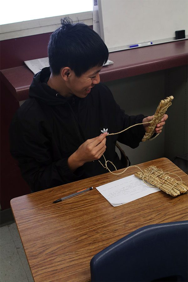Junior Rin Lee, takes a look at what some Native-Americans wore as slippers. These slippers are made out of Tule, a common plant used for a variety of items.