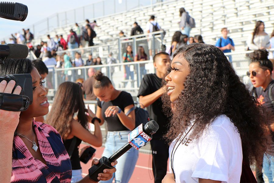 Senior DeBohray Harris speaks to Fox 40 News about  the outcome of the rally.